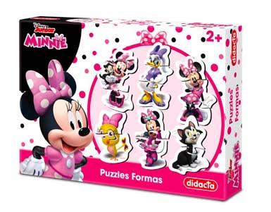 Puzzles formas Minnie. Grandes piezas con la facilidad de que sean resistentes y manuables.
