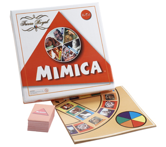 Juego Mimica, pensado para que todos puedan enfrentar el desafío de expresar ideas sin utilizar la voz. A partir de 7 años.