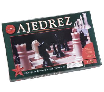 Ajedrez. Estimula el razonamiento, desarrolla la creatividad, Contiene 1 tablero y un juego de pie.