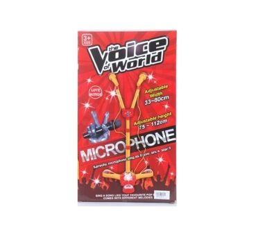 Microfono doble de pie para Karaoke en caja. Medidas: 36 x 21 x 7,5 Recomendado par aniños mayores de 3 años.