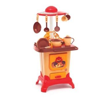 CALESITA. Cocina unisex con cocina a leña horno y pileta. Medidas: 45 x 32 x 84,5 cm Recomendado para niños mayores de 3 años.