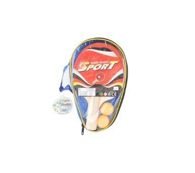 Set de ping pong con 2 pelotas en blister. Medidas: 19 x 28 x 4,2 cm. Recomendado para niños mayores de 3 años.