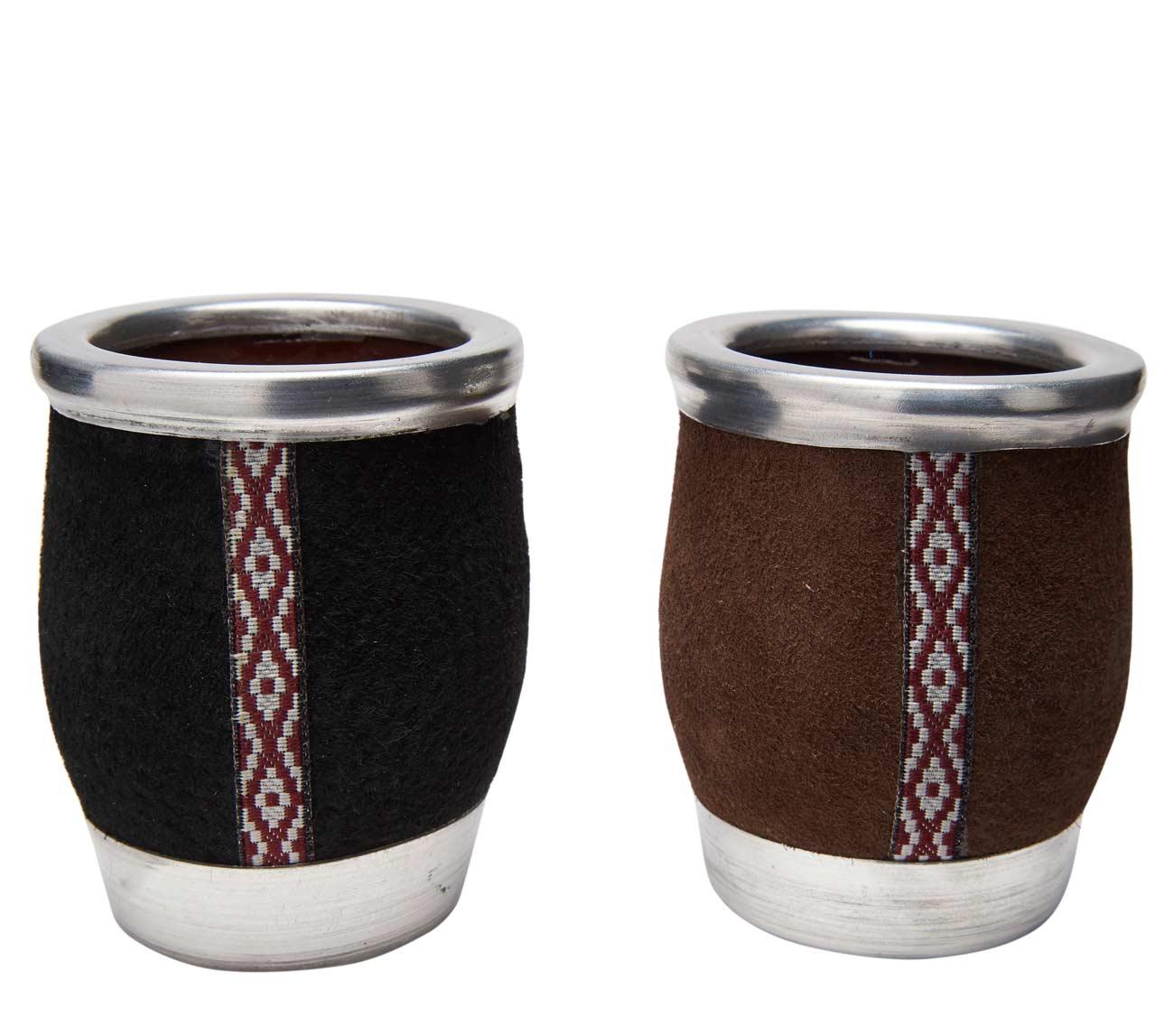 Mate de cerámica chico, Medidas: 7 cm diametro, y 9 cm de alto. Foto meramente ilustrativa.