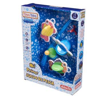 Mi primer juego de pesca  Linea Topa Topa Splash Disfrutá de jugar en el agua al aire libre o en la bañera. Estimula el juego activo, la coordinación, el razonamiento y el juego simbólico.