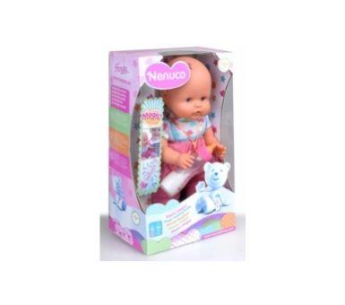 Bebe Nenuco biberón mágico. Medidas: 19 x 32 x 13 cm. Recomendado para niños mayores de 10 meses.