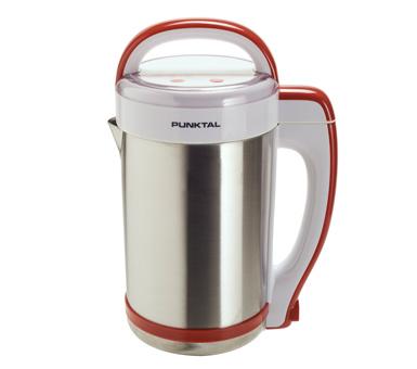 Sopera Punktal. Programa de cocina inteligente, Cocina, corta y mezcla. Acero inoxidable. Capacidad 1,3 litros.