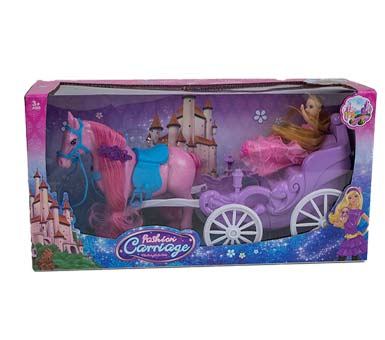 Carruaje Princesa Fashion  Medidas: 37 x 15 cm