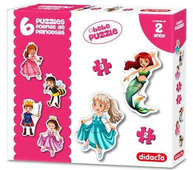 Puzzle princesas. Los primeros puzzles del bebé para fomentar el desarrollo cognitivo y entretener didácticamente a los más pequeños