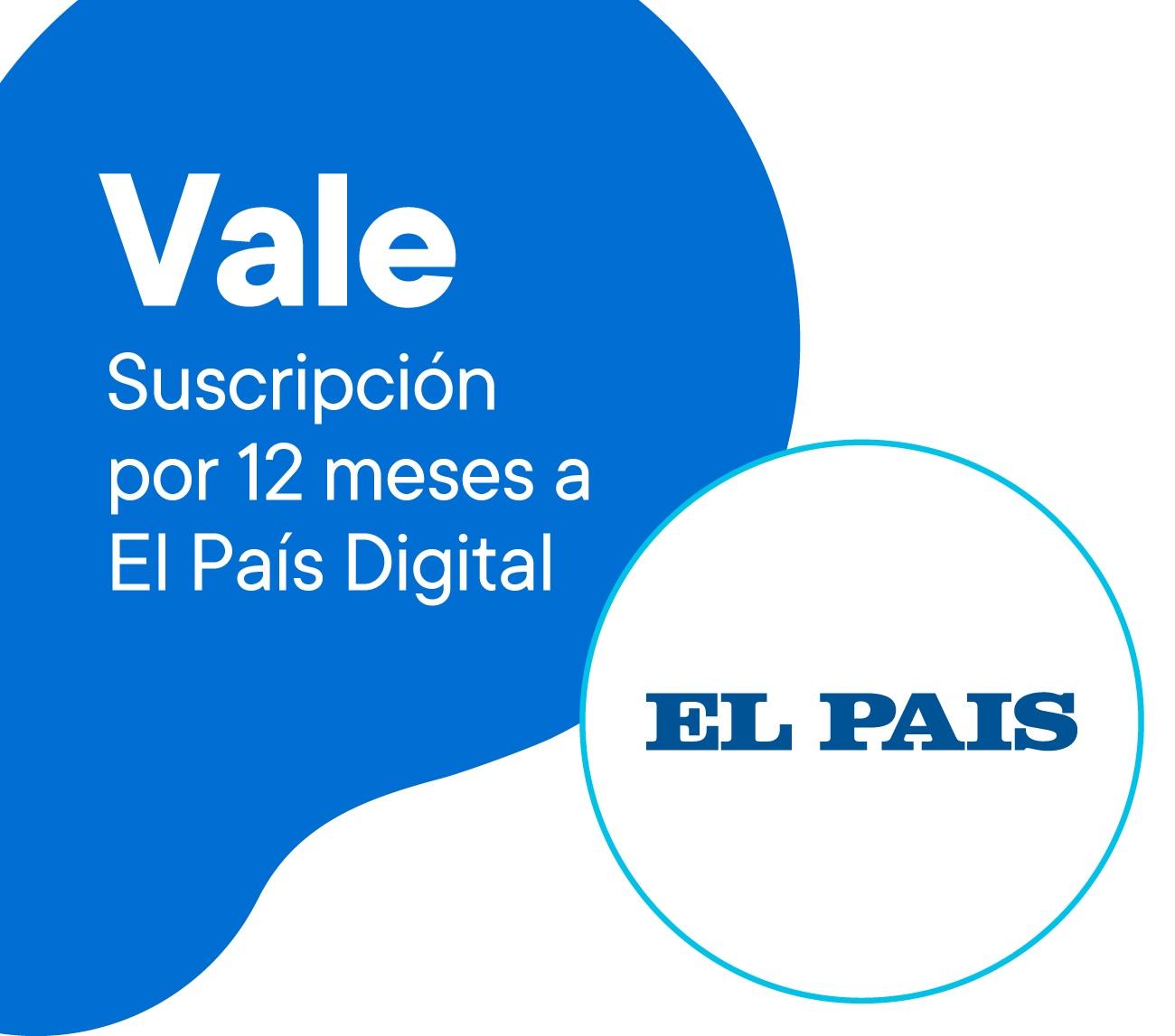 Vale suscripción 12 meses a Acceso Digital a El País. Te permite leer todos los contenidos de forma ilimitada accediendo a notas y newsletters exclusivos para suscriptores. Al canjear recibirás por mail un link para acceder a tu suscripción.