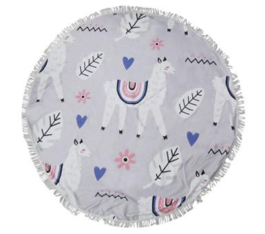 Toalla Mandala.  Medida: 150 cm de diámetro 100% microfibra.
