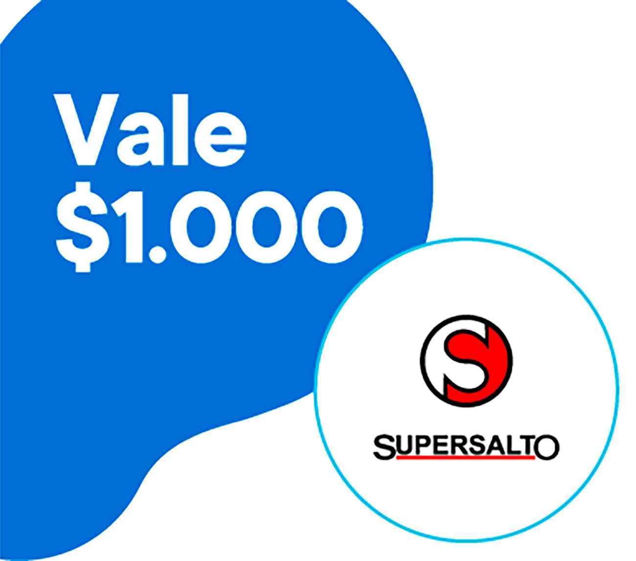 Vale por $1000 para utilizar en Super Salto (Uruguay 862 depto. de Salto). Al realizar el canje recibirás un código en tu mail. Ese código lo tendrás que presentar en la caja. El vale será descontado de tu compra en su totalidad.